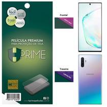 Kit Película HPrime para Samsung Galaxy Note 10+ Plus 6.8  Frontal Safety Max + Verso Curves Pro -