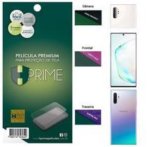 Kit Película HPrime para Samsung Galaxy Note 10+ Plus 6.8  Frontal + Verso + Lens Protect / Câmera -