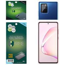 Kit Película HPrime para Samsung Galaxy S10 Lite  Frontal de Vidro Temperado + Lens Protect / Câmera -