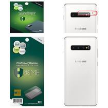 Kit Película HPrime para Samsung Galaxy S10+ Plus 6.4  Traseira Pet Invisível + Lens Protect / Câmera -