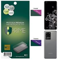Kit Película HPrime para Samsung Galaxy S20 Ultra 6.9  Frontal Safety Max + Verso Curves Pro -