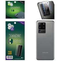 Kit Película HPrime para Samsung Galaxy S20 Ultra 6.9  Traseira Curves Pro + Lens Protect / Câmera -
