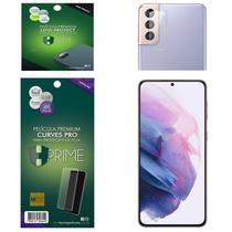Kit Película HPrime para Samsung Galaxy S21+ Plus 6.7  Frontal Curves Pro + Lens Protect / Câmera -