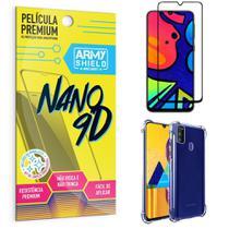 Kit Película Premium Nano 9D para Galaxy M21S + Capa Anti Impacto - Armyshield -