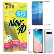 Kit Película Premium Nano 9D para Galaxy S10 Plus + Capa Anti Impacto - Armyshield -