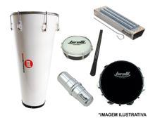 Kit percussão timba phx 213pbr + pandeiro torelli tp301 + reco reco tr503 + tamborim + ganza -