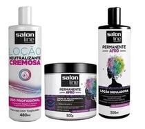 Kit Permanente Afro Salon Line ( 3 Produtos ) -