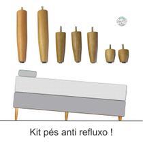 kit pés anti refluxo para cama box casal - Rodrim