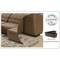 kit pes para sofa 4 unidades  de plastico resistente a prova d'água - Rodrim