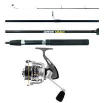 Kit Pesca Vara Kará 1,65m 15-25lbs 2 Partes + Molinete Canário 60 - Albatroz Fishing
