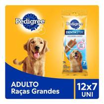 Kit  Petisco Pedigree Dentastix Cuidado Oral Para Cães Adultos Raças Grandes 12x7 uni -