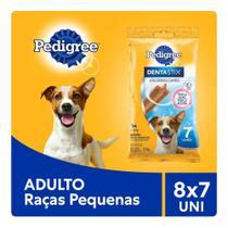 Kit Petisco Pedigree Dentastix Cuidado Oral Para Cães Adultos Raças Pequenas 8x7 uni -