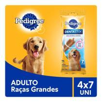Kit Petisco Pedigree Dentastix Cuidado Oral Para Cães Adultos Raçasgrandes 4x7 uni -