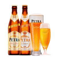Kit Petra Aurum e Weiss 500ml + 1 Taça 380ml + 1 Copo 675ml -