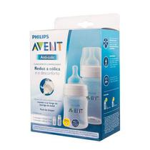 Kit Philips Avent 2 Mamadeiras Anti-Colic 125 E 260Ml Transp