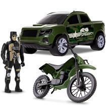 Kit Pick Up E Moto Force Warfare C/ Soldado - Samba Toys -