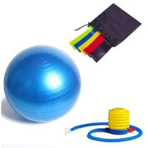 Kit Pilates Funcional Bola Suíça 65 cm + Mini Band 5 Níveis - Top Total