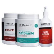 Kit Pimenta Negra + Esfoliante + Fluído Térmico Hidramais -