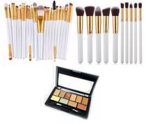 KIT Pincéis 30 Peças Profissional Maquiagem Com Paleta Base Corretivo - Shoopweb