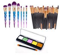 Kit Pinceis Maquiagem Paletal 5 Cores Ilumi - Shoopweb