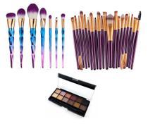 KIT Pincéis Maquiagem Profissional 30 Peças Paleta Belle Angel - Shoopweb