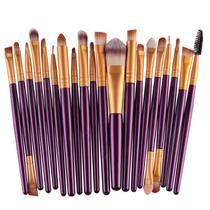 Kit Pinceis Maquiagem Profissional Pincel  20 Peças - Shoopweb