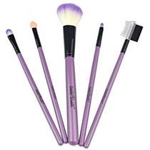 df1c416529cd6 Kit Pincéis Pincel Para Maquiagem Profissional 5 Unidades Macrilan - KP5-9  - ROXO