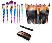 Kit Pincéis  Profissional Maquiagem Paleta Belle Angel Sombras - Shoopweb