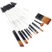 Kit Pincel Sinoart Hobby & Art 10 Pincéis Filamento Sintétic -