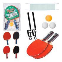 Kit Ping Pong com 2 Raquetes, 3 Bolinhas e 1 Rede - Mb Tech
