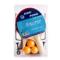 Kit Ping Pong Tênis De Mesa 2 Raquetes 3 Bolas c/ Rede -