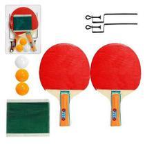 1bc5566f4 Kit Ping Pong Tênis Mesa Raquetes Rede Bolinhas