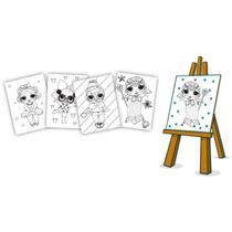 Kit Pintura Infantil para Colorir com Cavalete e Tintas DOLL - Brinc.Decrianca