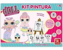Kit Pintura Infantil Para Colorir Com Cavalete E Tintas Doll -