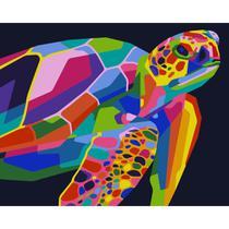 Kit Pintura Numerada Artelementar - Tartaruga Pop Art -