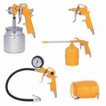 Kit Pintura P/ Compressor Pistola,pulverizador,inflador,bico - Chiaperini