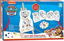 Kit Pintura Patrulha Canina C/ Telas Tintas Cavalete Pincel - Nig