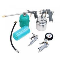 Kit Pintura Pistola Para Compressor 5 Pçs 5730255 Stels -
