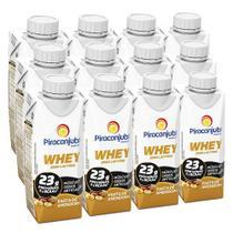 Kit Piracanjuba Whey Zero Lactose Pasta de Amendoim 12x250ml -