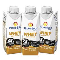 Kit Piracanjuba Whey Zero Lactose Pasta de Amendoim 3x250ml -