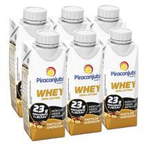 Kit Piracanjuba Whey Zero Lactose Pasta de Amendoim 6x250ml -