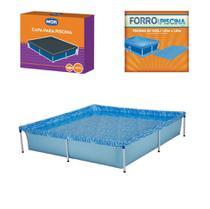 Kit Piscina Infantil 1500 Litros + Capa + Forro - Mor -