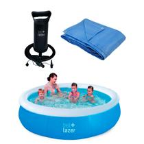 Kit Piscina Inflável- 100000 + Lona 4m-68000 +Bomba Manual 120200 -Belfix