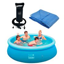 Kit Piscina Inflável- 2300L-100800+ Lona-68000+Bomba Manual 120200-Belfix