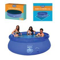 Kit Piscina Inflável Splash Fun 2400 Litros + Capa + Forro - Mor -