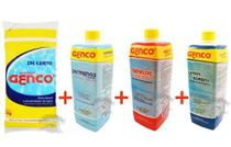 Kit Piscina Limpa Ph Certo + Ph- +clarificante + Limpa Borda - Genco