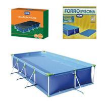 Kit Piscina Premium 5000 Litros Estruturada + Capa + Forro - Mor -