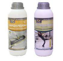 Kit pisoclean antiderrapante para piso + limpeza pesada lp -