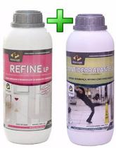 Kit pisoclean refine tira manchas + antiderrapante para piso -