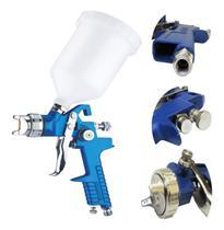 Kit  pistola de pintura por gravidade de bicos titanium -